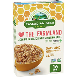 Cascadian Farm Organic Granola Oats And Honey 453g