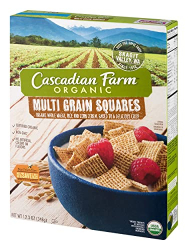 Cascadian Farm Organic Cereal Multigrain Squares 348g