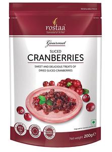 Rostaa Sliced Cranberries 200g