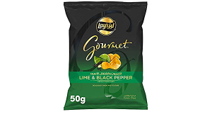 Lay'S Gourmet Lime And Black Pepper Potato Chips 50g
