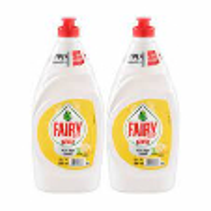 Fairy Lemon Dishwash 2x600ml