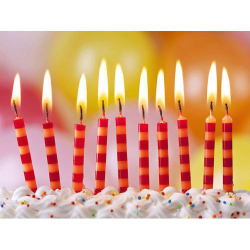 Country Spiral Party Candle 4pcs