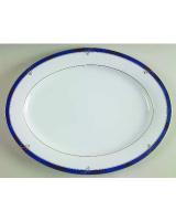 4Ever Oval Platter Sapphire 1pc