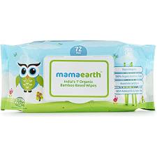 Mamaearth Organic Bamboo Base Baby Wipes 72pcs