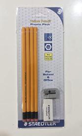 18 Hb Pencils + Eraser + Sharpener 1pc