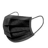 Disposable Black Face Mask 1pc