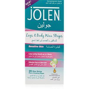 Jolen Face Wax 20 Strips + 4 Finishing Wipes 20s