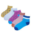 Active Life Girls 5 Pair Ankle Socks 1pc