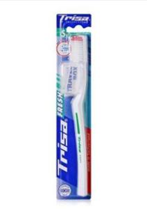 Trisa Toothbrush Pearl White Hard 12pcs
