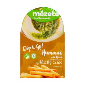 Mezete Hummus Herbs And Bread Sticks 86g