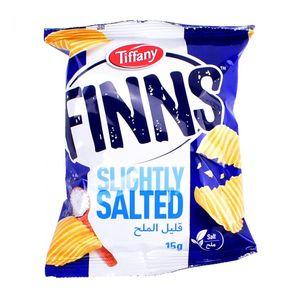 Finns Tiffany Crinkled Potato Chips Flow Pack Salt 200g