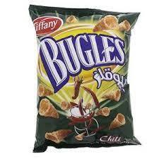 Bugles Tiffany Flow Pack Barbeque 90g