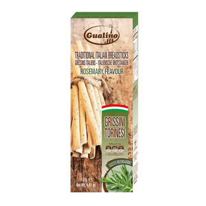 Grissini Torinesi Friabili Gualino Boxed Rosemary With Palm Oil 125g