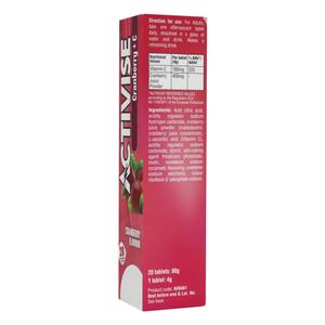 Activise Cranberry + Vitamin C Eff Tablets 20s