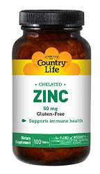 Country Life Zinc Tablets 90s