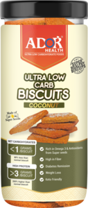 Ador Ultra Low Carb Biscuits Coconut Flavour 190g