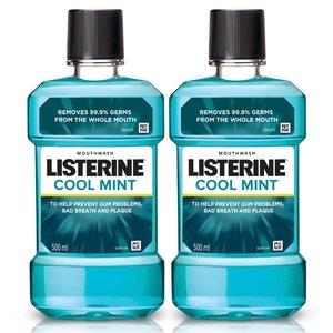 Listerine Mouthwash Cool Mint 1x(2x500ml)