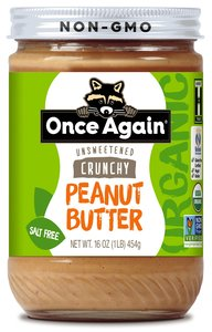 Once Again Peanut Butter Crunchy UnSweetened Organic 16oz