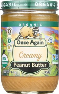 Once Again Peanut Butter Smooth UnSweetened Organic 16oz