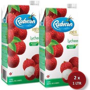 Rubicon Lychee Juice Drink No Added Sugar 2x1L