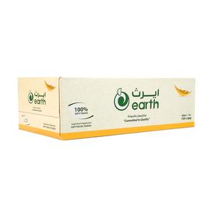 Earth Facial Tissue White 150s