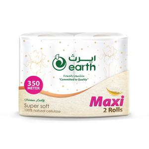 Earth Maxi Roll White Embossed 2pack