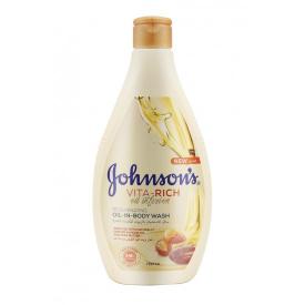 Johnsons Body Wash Oil In Almond & Strawberry 2x250ml