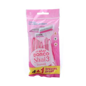 Dorco Shai3 Razor Women Disposable 5s