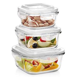 Windcera Food Container 370ml + 640ml + 1040ml 3pcs