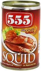 555 Squid In Natural Ink Chilli 155g