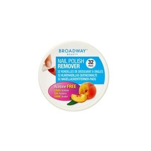 Kiss Broadway Nail Polish Remover Pad Peach 1pc