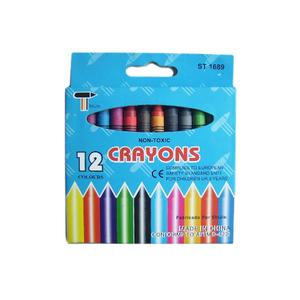 Non-Toxic 12Pcs Wax Crayons Cr12L 12pcs