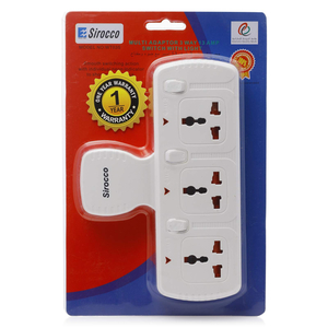 Sirocco Extension Socket 3 Way 4M W1603S 1pc