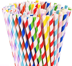 Party Time Straw 5x210 mm Paper Packing 1pc