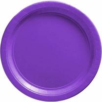 Amscan 7 Inch Plastic Plate New Purple 1pc