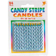 Amscan Candy Stripe Candles Blue 1pc