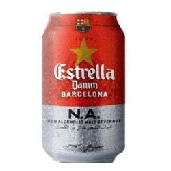 Estrella Damm Beer Non Alchoholic Can 330ml