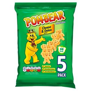 Pom Bear Pot Snack Cheese & Onion 19g