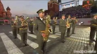 Spasskaya Tower 2014 | Serbian Military March | Russian Military Tattoo