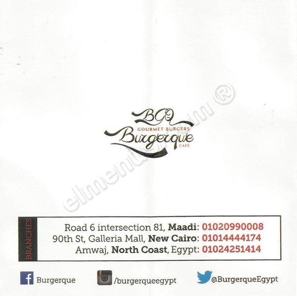 المنيو المصور لمطعم برجركيو (مغلق) على المنيوز، القاهرة، مصر