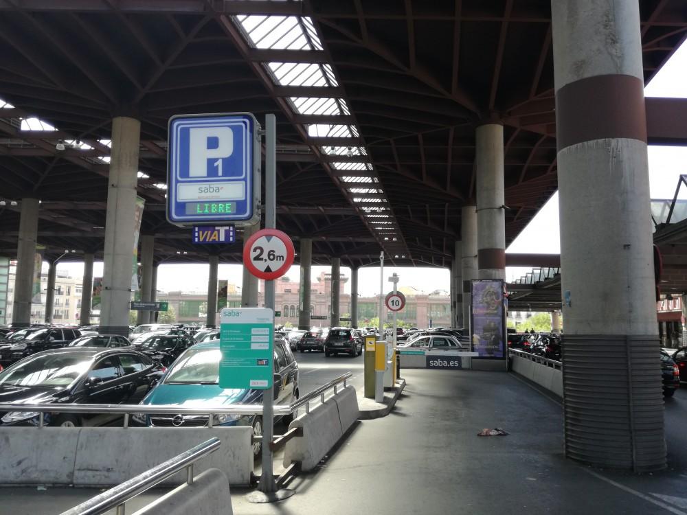 Park in Renfe Madrid Estación Atocha. Pza.Emperador Carlos V-Madrid