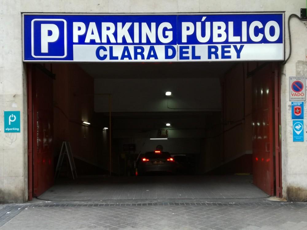 Aparcar en Parking Clara del Rey-Madrid