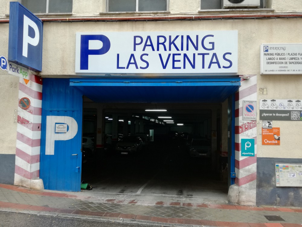 Parking Las Ventas-Madrid(e)n aparkatu