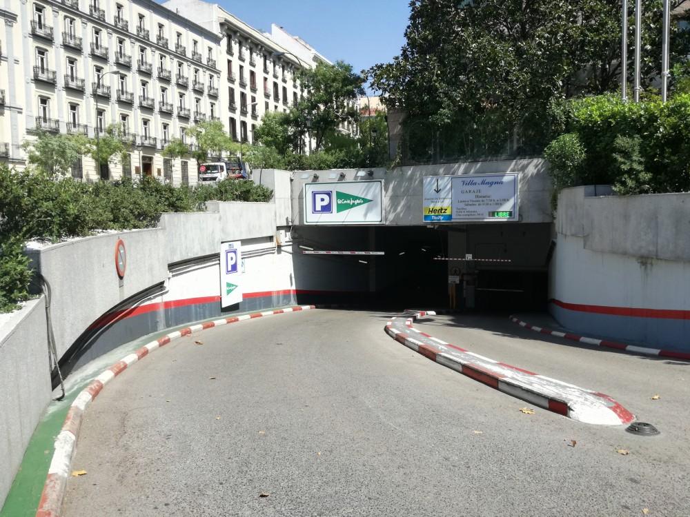 Aparcar en Corte Inglés Serrano 47-Madrid