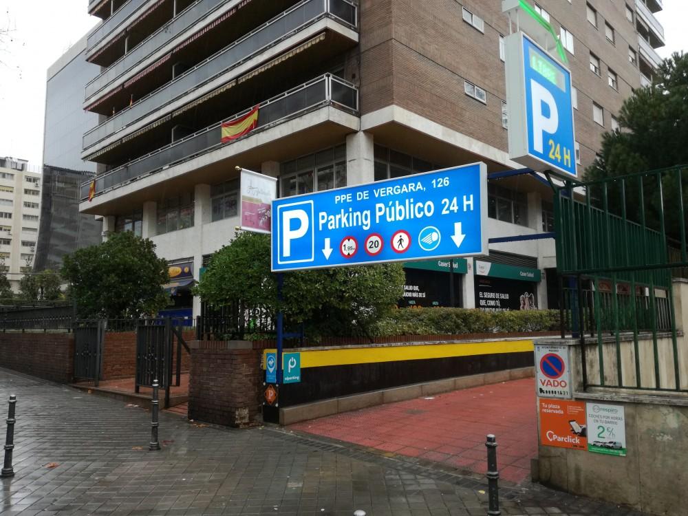Parking Principe de Vergara,126-Madrid(e)n aparkatu
