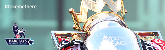 #takemethere Barclays Premier League shiny Trophy