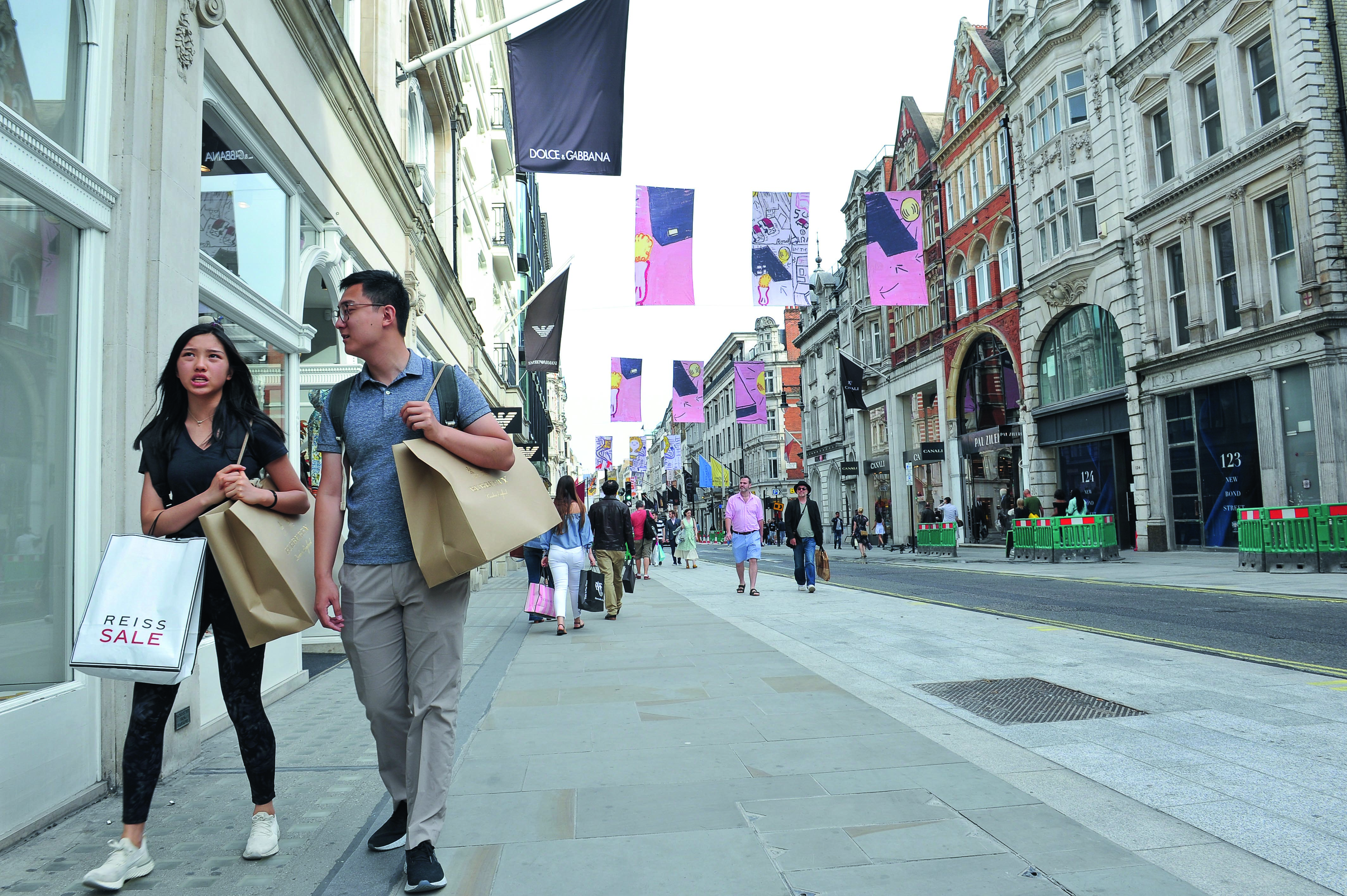 Chinese shoppers bond street