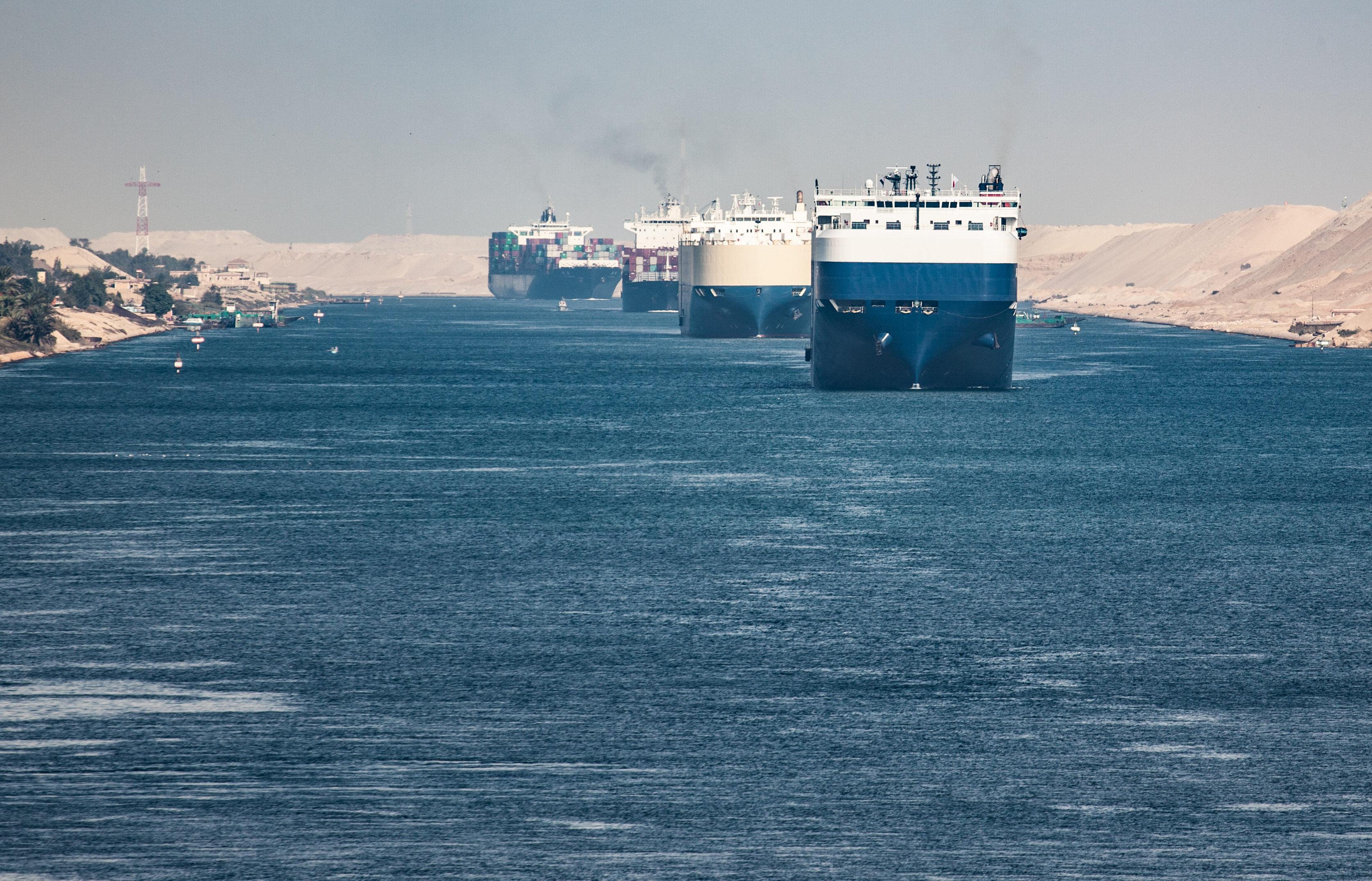 There has been further disruption to freight in the Suez Canal, where a container ship ran aground in March