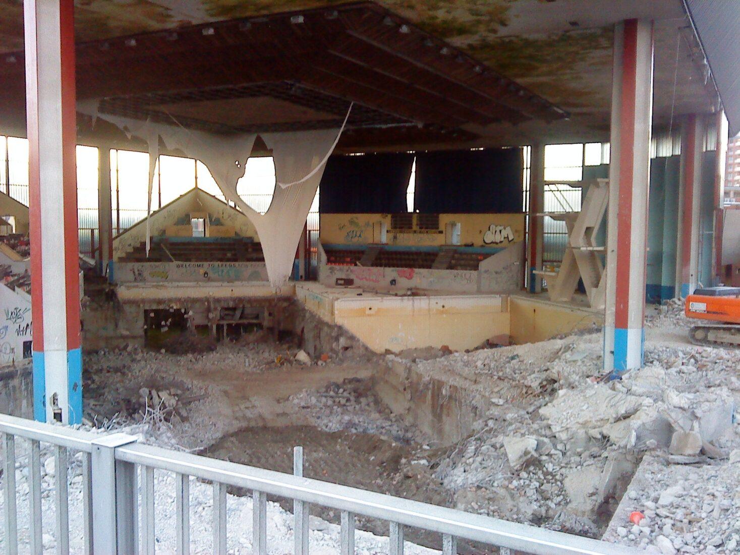 Leeds Pool Demolition Continues As Development Plans Abandoned