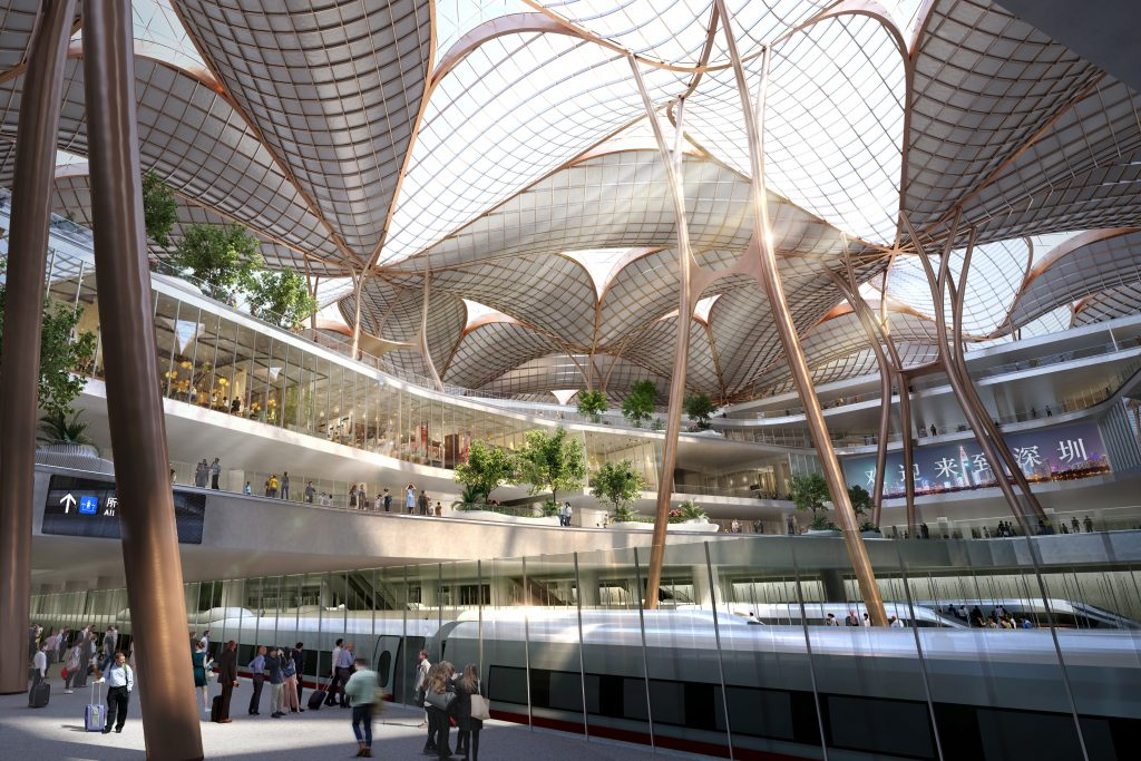 Grimshaw beats ZHA, Fosters and BIG to win Shenzhen airport transport hub
